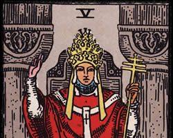 Significado de la carta El Papa o El Sumo Sacerdote